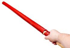 Bras avec l'épée en bambou japonaise de fukuro-shinai Images libres de droits