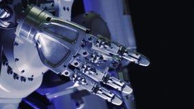 Bras bionique de cyborg Main robotique innovatrice banque de vidéos