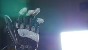 Bras bionique Fabriqué à la main robotique innovateur sur l'imprimante 3D Technologie futuriste