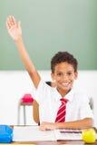 Bras d'écolier vers le haut Images libres de droits
