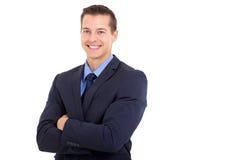 Bras d'entreprise de travailleur pliés Image stock
