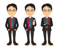 Bras d'homme d'affaires croisés illustration stock
