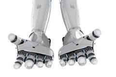 Bras de cyborg d'isolement illustration de vecteur