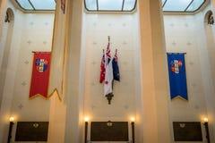 Bras de General Coat Of du Nouvelle-Zélande et du Gouverneur Images libres de droits