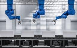 Bras de robot avec des boîtes Image stock