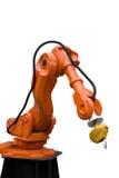 Bras de robot utilisé dans la construction de véhicule Photographie stock
