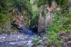Bras des plaines canyon in la Reunion island Royalty Free Stock Photo