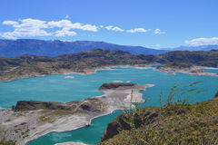 Bras du Général Carrera Lake, Patagonia chilien Photos stock