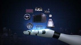 Bras du ` s de robot, électronique, voiture d'écho de batterie d'ion de lithium Batterie de voiture de remplissage future voiture banque de vidéos