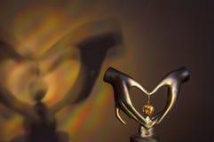 Bras et coeur Photo libre de droits