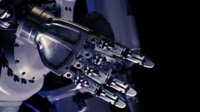 Bras futuriste de robot Main robotique innovatrice clips vidéos