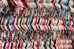 Bras hanging on the wall at the central market Stock Image