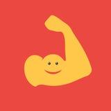 Bras musculaire drôle Photographie stock libre de droits