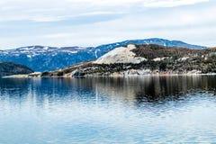 Bras oriental de baie de Bonne, Gros Morne National Park, Terre-Neuve images libres de droits