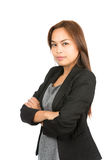 Bras professionnels de carrière asiatique sûre pliés Images libres de droits