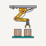 Bras robotique d'usine illustration de vecteur