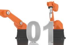Bras robotique industriel construisant 2016 banque de vidéos