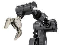 Bras robotique noir Image libre de droits
