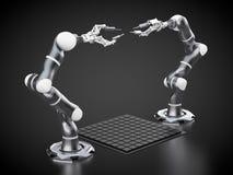 Bras robotiques Photo libre de droits