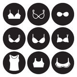 Bras types icons set Royalty Free Stock Image