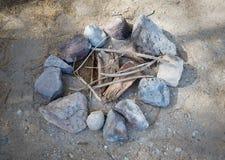 brasa Campfire i natur Royaltyfria Bilder