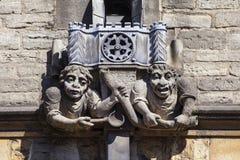 Brasenose学院面貌古怪的人在牛津 免版税库存图片