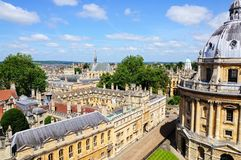 Brasenose College and Radcliffe Camera, Oxford. Stock Images