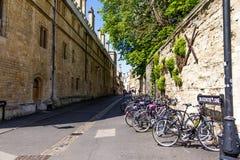 Brasenose pasa ruchu ulica na zewnątrz uniwersytet oksford szkoły wyższa Obrazy Stock
