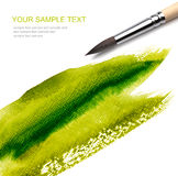 Brash and paint sketch. Brash and green paint sketch Royalty Free Stock Photos
