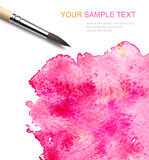 Brash and watercolor paint Stock Image