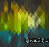 Brasil 2014 Światowych piłki nożnej mistrzostwa abstrakta tło Obrazy Stock