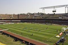 Brasil 1x0 África do Sul - São Paulo - Brasil fotografia de stock