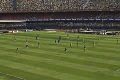 Brasil 1x0 África do Sul - São Paulo - Brasil foto de stock royalty free
