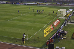 Brasil 1x0 África do Sul - São Paulo - Brasil Imagem de Stock