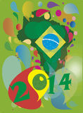 Brasil 2014. Background Soccer Football Tournament brasil 2014 vector illustration