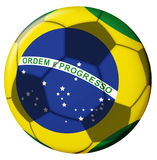 Brasil Ball. Brasil Flag on soccer ball royalty free illustration