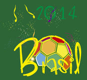Brasil 2014 ball colorfull Stock Images
