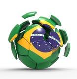 Brasil ball. 3d modelled and rendered ball Stock Image