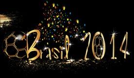Brasil 2014 ball  GOLD Royalty Free Stock Images
