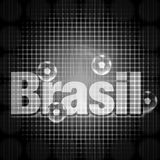 Brasil Black Creative Design. Brasil Black Creative Symbol Background Design Royalty Free Stock Photo