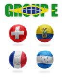 Brasil. Bolas de E. Realístico Futebol do grupo Fotografia de Stock