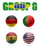 Brasil. Bolas de G. Realístico Futebol do grupo Foto de Stock