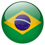 Brasil Button. Isolated on white background vector illustration