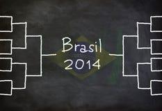 Brasil 2014 chart Royalty Free Stock Image