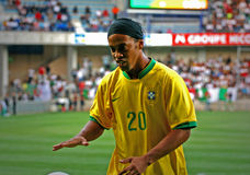 Brasil contra Argélia Imagem de Stock