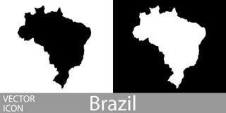 Brasil detalhou o mapa ilustração stock