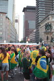 Brasil Fans in Frankfurt Stock Photography