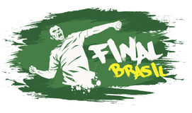 Brasil final. Signs for t-shirts, stickers, flyers and web banners Stock Image