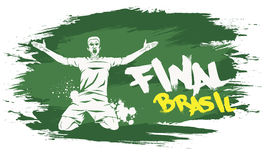 Brasil final. Signs for t-shirts, stickers, flyers and web banners Royalty Free Stock Photography