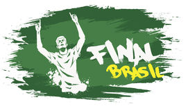 Brasil final. Signs for t-shirts, stickers, flyers and web banners Royalty Free Stock Photos